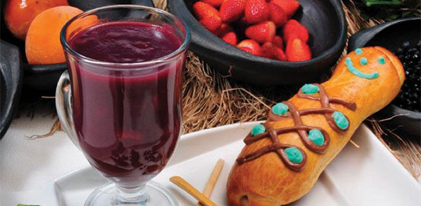 Colada Morada with Guaguas de Pan Recipe Gloria Gilbereecipe