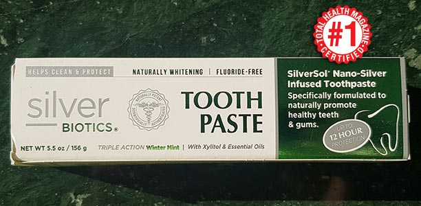 Silver Biotics Naturally Whitening Tooth Paste